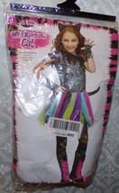 Wild Rainbow Cat Halloween Costume New Youth L 12 -14 Kitten Feline Girls - $33.77