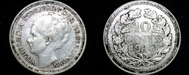 1928 Netherlands 10 Cent World Silver Coin - $7.99