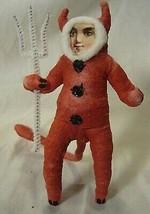 Vintage Inspired Spun Cotton Devil Boy Ornament Halloween!No. 227 image 1