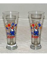 VINTAGE 1987 BUD LIGHT SPUDS MACKENZIE PILSNER BEER GLASSES Lot of 2 EUC  - $16.99