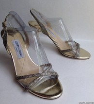NEW JIMMY CHOO Ingrid Glitter Strappy Sandals (Size 38.5) - MSRP $795.00! - $299.95