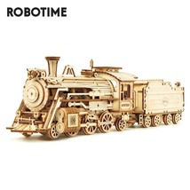 Train Model 3D Wooden Puzzle Toy Assembly Locomotive Gift Kids - $30.00