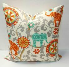 Waverly Sun N Shade Menagerie Cayenne Indoor Outdoor Pillow Cover with Z... - $14.00+
