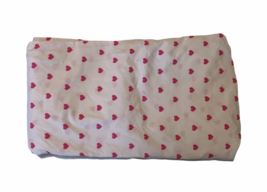 Pottery Barn Kids Heart Sheet Fitted Twin Bright Pink  - $19.86