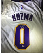"KYLE KUZMA - LOS ANGELES LAKERS - HAND SIGNED OFFICIAL ""WISH"" LOGO JERSEY - COA - £136.11 GBP"