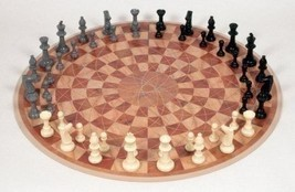 Three Player Chess Circular Hand Board Strategy Game Family Playing Set ... - £46.32 GBP