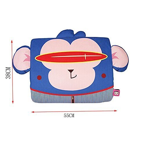 PANDA SUPERSTORE Cute Cartoon Monkey Breathable Lumbar Support/Back Cushion Memo