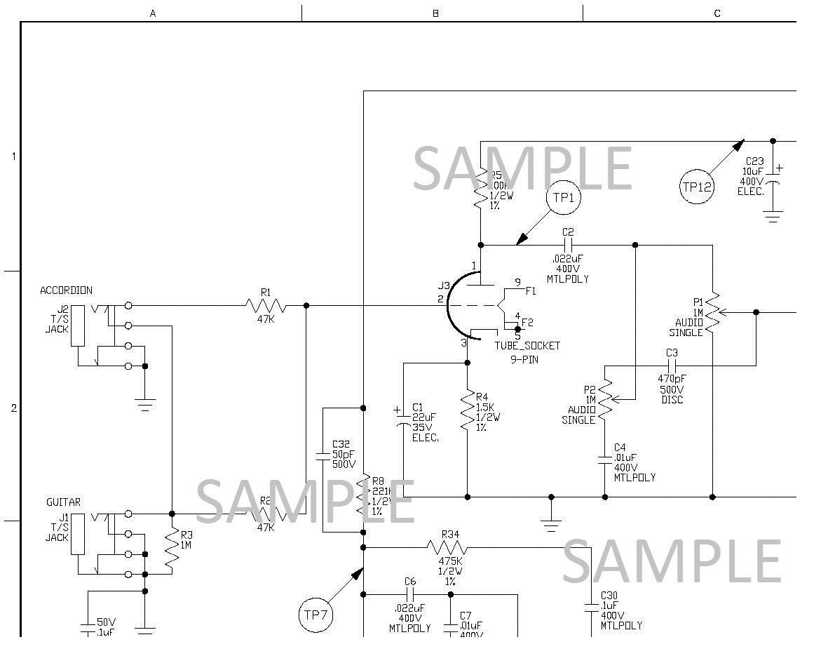Electronic Diagram for Ampeg J-12T Vacuum and 50 similar items