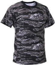 Mens Urban Tiger Stripe Camouflage Tactical Military Short Sleeve T-Shirt - $11.99+