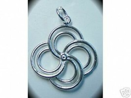 SALE 1009 Celtic Spiral Silver pendant charm life cycle - $14.34