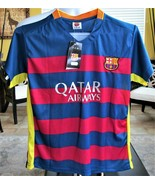 2015 / 2016 Fc Barcelona #10 Lionel Messi Kids Soccer Football Jersey w ... - $49.50
