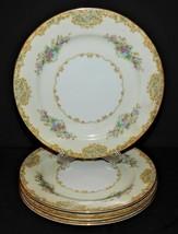 4 Noritake Alvin 95649 China Dessert Salad Plates Japan 1933  Floral Gol... - $34.64