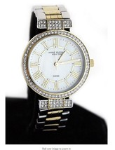 Anne Klein Anne Klein 12/2251MPRV Reversible Two Tone Band Crystal Accen... - $109.89