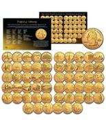 US Statehood Quarters GOLD plated Legal Tender * 56-Coin Complete Set * ... - $93.46