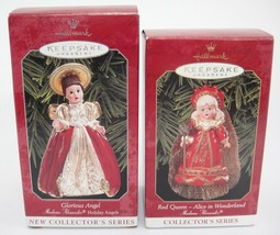 Hallmark Madame Alexander Ornaments Lot of 2 Glorious Angel Red Queen Wo... - $11.87