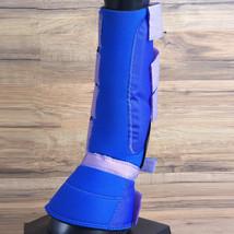 Medium Hilason Western Horse Tack 4 In 1 Horse Leg Combo Boots Blue U-M-BL - $32.95