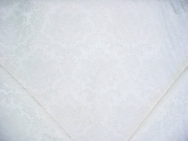 6Y SWAVELLE MILL CREEK PEARL SILVERY WHITE FLORAL DAMASK UPHOLSTERY FABRIC - $85.54
