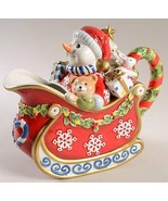 Fitz and Floyd 33 Oz Figurine Pitcher in Christmas Snowman Collection  - $65.00
