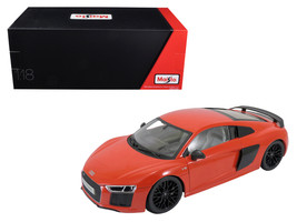 Audi R8 V10 Plus Red Exclusive Edition 1/18 Diecast Model Car by Maisto - $72.58