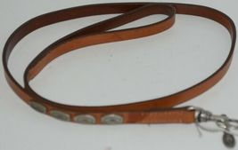 Hamilton Leather Concho Dog Leash 4 feet Long Brown with Metal Design Pkg 1 image 5