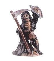 "Blue Sky Clayworks Grim Reaper w/ Clock Tealight Candle Holder 10.25"" H - $34.65"