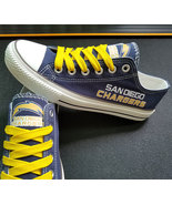 chargers shoe women chargers sneaker converse style tennis shoe los ange... - $55.00+
