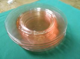 "Beautiful  Depression Glass 6 PINK Anchor Hocking  PLATES....7.75+"" - $27.39"