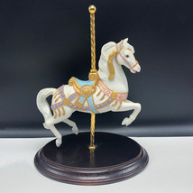 Carousel Magic Franklin Mint Horse Figurine Porcelain Statue Lynn Lupette 1987 - $123.75