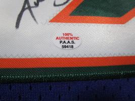 KARL MALONE / NBA HALL OF FAME / AUTOGRAPHED UTAH JAZZ THROWBACK JERSEY / COA image 7
