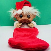 "Troll Christmas stocking vintage mithy xmas holiday toy figure vtg 25"" s... - $62.67"