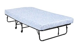 """Folding Metal Guest Bed with 5"""" Microfiber Mattress Portable Cot Space S... - $131.99"""