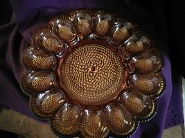Indiana Glass Amber Egg Platter - $30.00