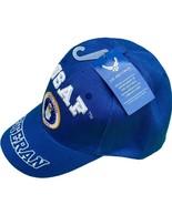 U. S. Air Force USAF Seal Veteran Blue Baseball Hat New - £9.07 GBP