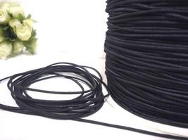 Approx 1mm width - 10- 20yds Black Elastic Thread Cord Drawstring ET10 - $6.99+