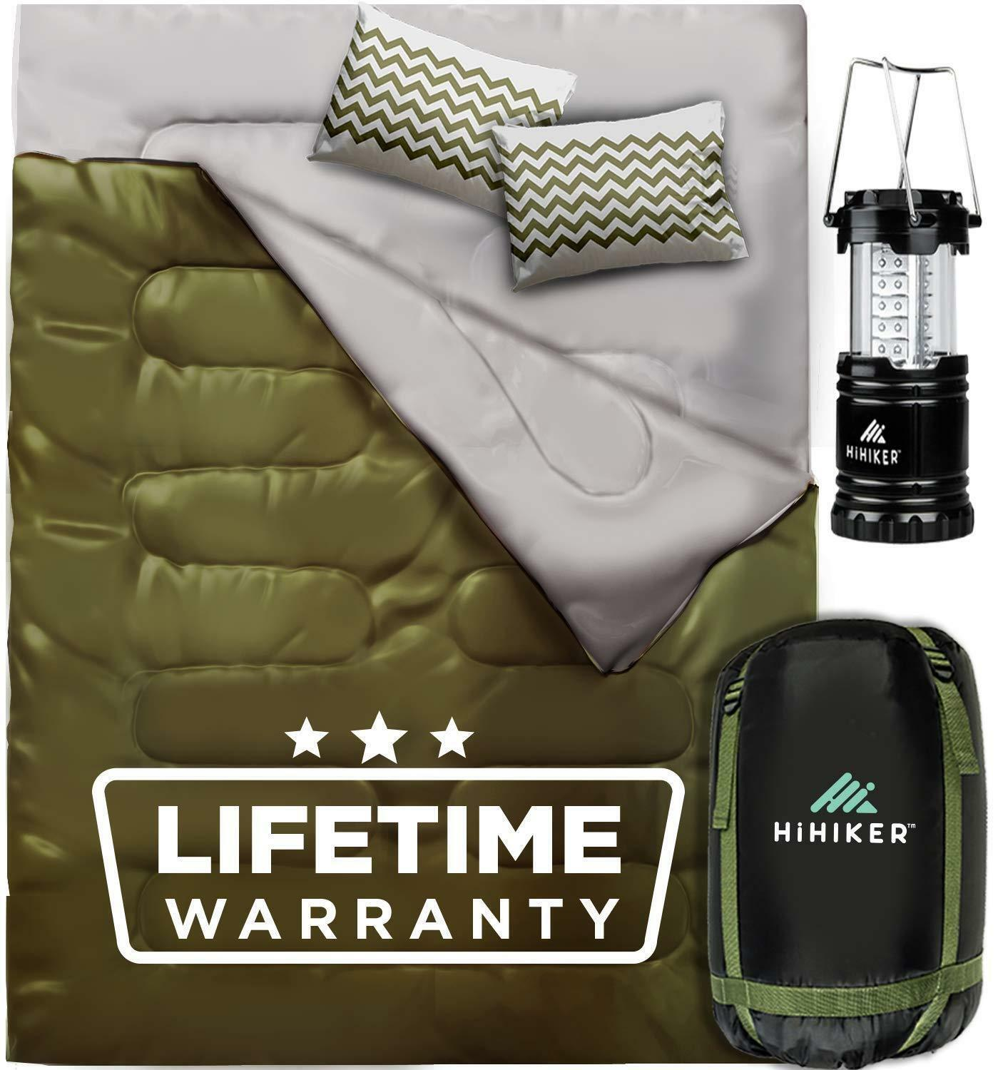 Double Sleeping Bag Queen Size XL for Camping