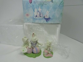 DEPT 56 26418 SNOWBUNNIES FIGURINE SET OF 2 INSTRUCTIONS FROM THE MASTER... - $26.68