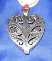 Precious Memories Keepsake Ornament Pewter Christams Pewter Heart Leaves... - $16.82