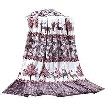 Deer Cartoon Summer Baby Towel Coral Carpet Air Conditioning Blanket image 1