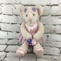 Vintage Russ Berrie Ariella Teddy Bear Plush Ballerina In Tutu Stuffed A... - $19.79