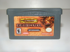 GAME BOY ADVANCE - DUNGEONS DRAGONS - EYE OF THE BEHOLDER (Game Only) - $15.00