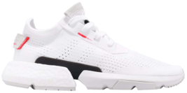 ADIDAS POD -S3.1 MEN SIZE 10.0 WHITE SHOCK RED NEW RUNNING - $138.59