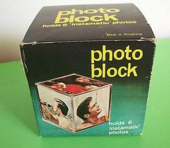 Vintage Photo Block Cube Retro Home Decor Display Photographs Made in Ho... - $9.99
