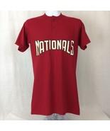 Majestic Washington Nationals MLB Adam Eaton #2 Mens Shirt Red Size Small - $14.96