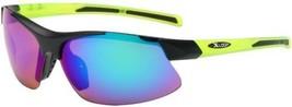 Half Frame Mens Mirrored Lens Wrap Around Cycling Baseball Sunglasses Green - $8.99