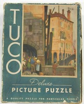 vtg TUCO 1930s Deluxe Picture Puzzle Complete 200-300 pieces A Venetian Way - $29.99