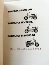 Suzuki RV50 K / L / M 1973-1975 Part List Catalog Book New - $12.47