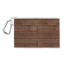 Reclaimed Floorboards Wood Pattern Canvas Zip Pouch - $15.99+