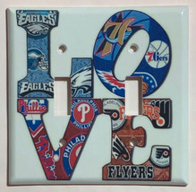 Eagles Phillie Flyers 76ers LOVE Light Switch Outlet wall Cover Plate Home Decor image 3