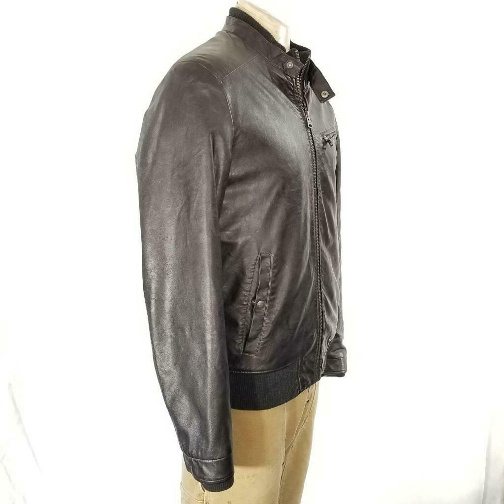 Levis Faux Leather Jacket Sz M EUC image 4