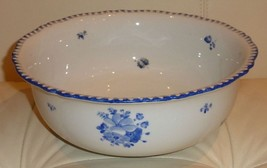 "ANTIQUE BOHEMIA POTTERY SERVING BOWL 3 3/4"" Tall by 10"" WIDE - $129.00"